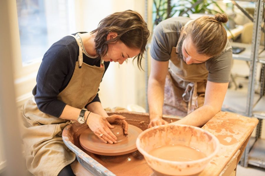 Designing Plates on the Potter's Wheel